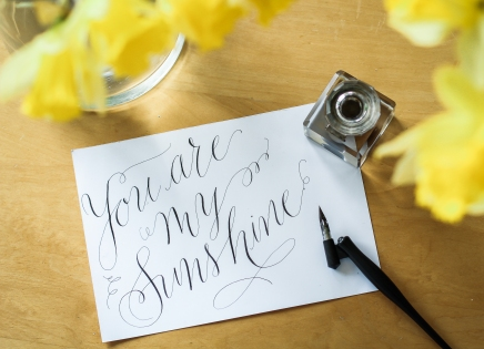 Crest Calligraphy spring cards